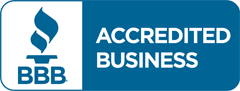 Accredited and rated A+ by BBB